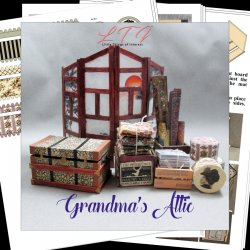 GRANDMA'S ATTIC in Miniature One Inch Scale Tutorial Instructions Pdf Download