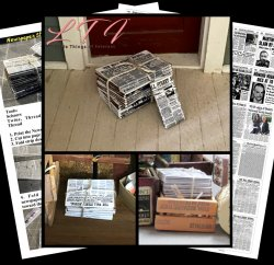 STACKED BUNDLE OF NEWSPAPERS FROM GRANDMA'S ATTIC Download Miniature One Inch Scale Tutorial PDF